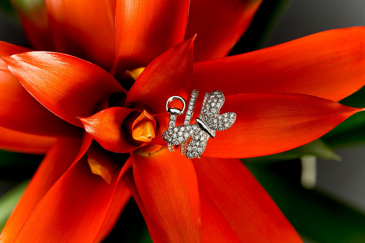 Gucci Flora Diamond Butterfly Ring