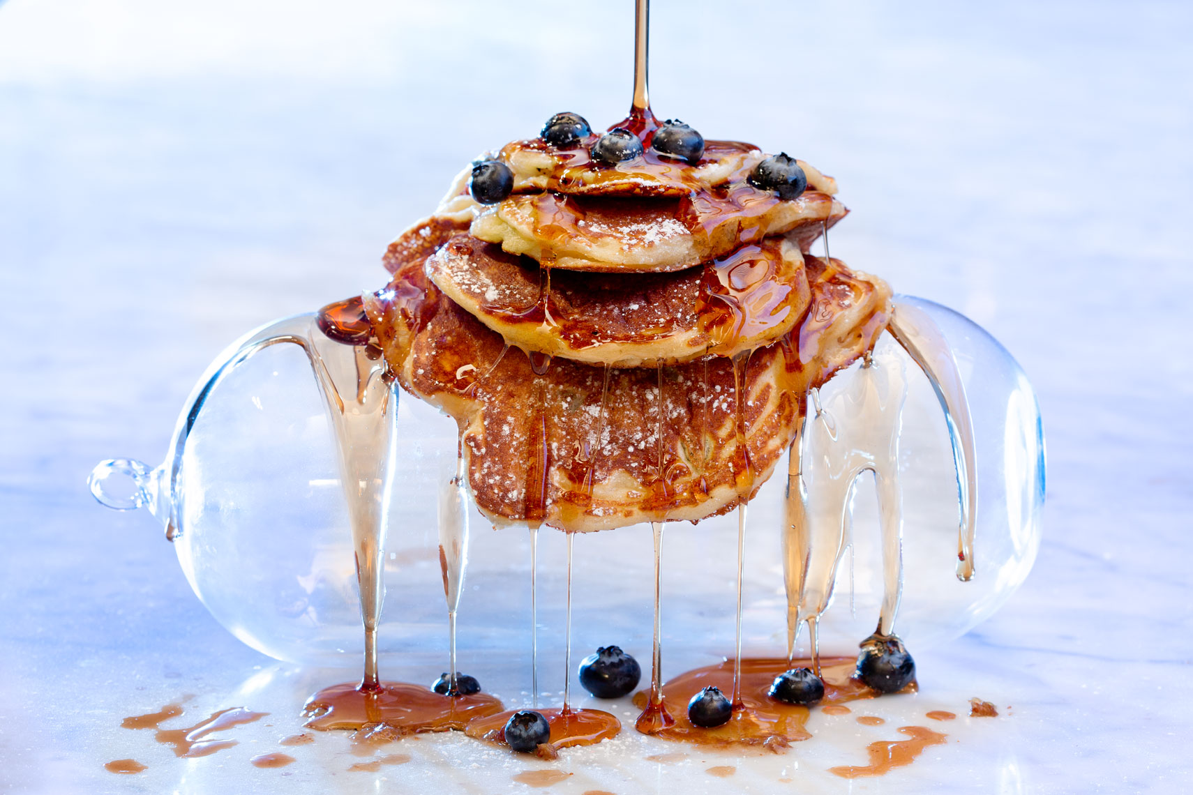 Pancakes and Dripping Syrup